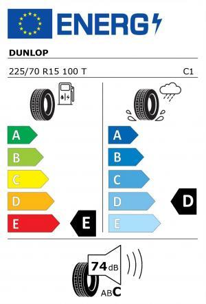 Spotřeba paliva - Přilnavost na mokrém povrchu - Hluk: E - D - 74 db (C)>
