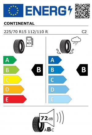 Spotřeba paliva - Přilnavost na mokrém povrchu - Hluk: B - B - 72 db (B)>