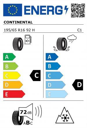 Spotřeba paliva - Přilnavost na mokrém povrchu - Hluk: C - D - 72 db (B)>