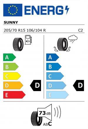 Spotřeba paliva - Přilnavost na mokrém povrchu - Hluk: D - D - 73 db (C)>