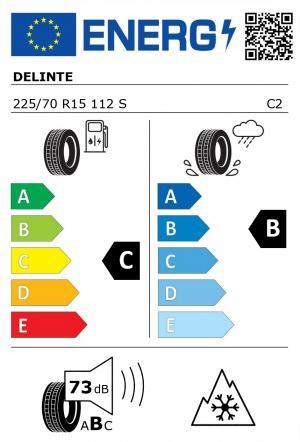 Spotřeba paliva - Přilnavost na mokrém povrchu - Hluk - 3PMSF: C - B - 72 db (B) - ANO>