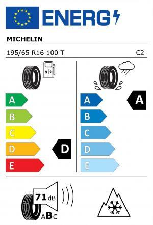 Spotřeba paliva - Přilnavost na mokrém povrchu - Hluk: D - A - 71 db (B)>