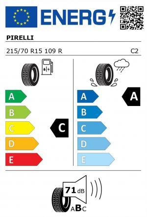 Spotřeba paliva - Přilnavost na mokrém povrchu - Hluk: C - A - 71 db (B)>