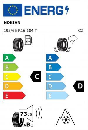 Spotřeba paliva - Přilnavost na mokrém povrchu - Hluk - 3PMSF: C - D - 73 db (B) - ANO>