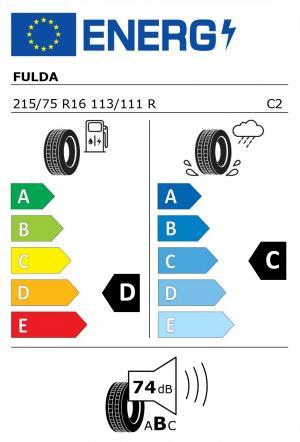 Spotřeba paliva - Přilnavost na mokrém povrchu - Hluk: D - C - 74 db (B)>