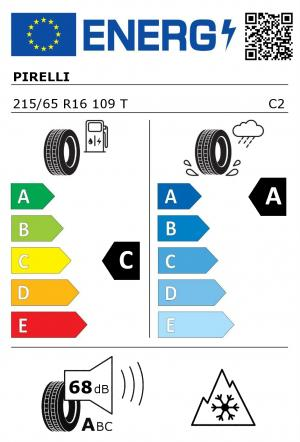 Spotřeba paliva - Přilnavost na mokrém povrchu - Hluk: C - A - 68 db (A)>