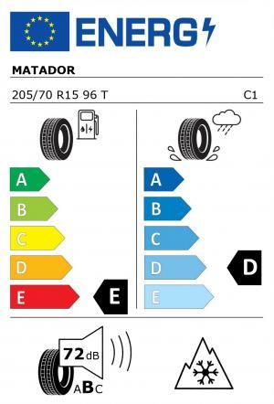Spotřeba paliva - Přilnavost na mokrém povrchu - Hluk: E - D - 72 db (B)>