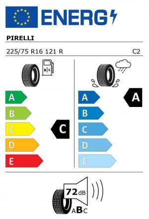 Spotřeba paliva - Přilnavost na mokrém povrchu - Hluk: C - A - 72 db (B)>