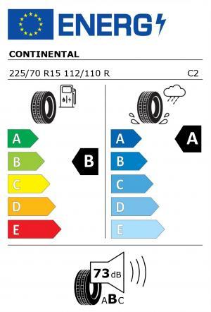 Spotřeba paliva - Přilnavost na mokrém povrchu - Hluk: B - A - 73 db (B)>