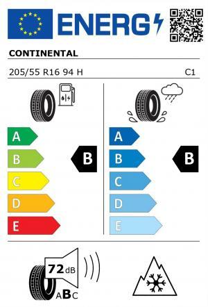 Spotřeba paliva - Přilnavost na mokrém povrchu - Hluk - 3PMSF: B - B - 72 db (B) - ANO>