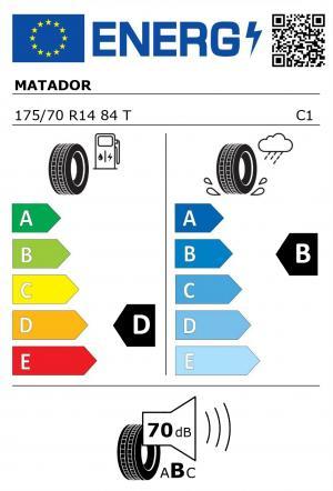 Spotřeba paliva - Přilnavost na mokrém povrchu - Hluk: D - B - 70 db (B)>