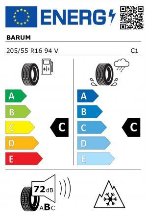 Spotřeba paliva - Přilnavost na mokrém povrchu - Hluk - 3PMSF: C - C - 72 db (B) - ANO>