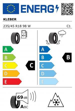 Spotřeba paliva - Přilnavost na mokrém povrchu - Hluk: C - B - 69 db (A)>