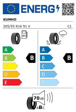 Spotřeba paliva - Přilnavost na mokrém povrchu - Hluk: B - B - 70 db (B)>