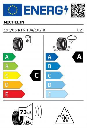 Spotřeba paliva - Přilnavost na mokrém povrchu - Hluk - 3PMSF: C - A - 73 db (B) - ANO>
