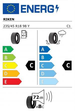 Spotřeba paliva - Přilnavost na mokrém povrchu - Hluk: C - C - 72 db (B)>