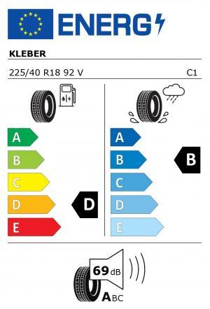 Spotřeba paliva - Přilnavost na mokrém povrchu - Hluk: D - B - 69 db (A)>