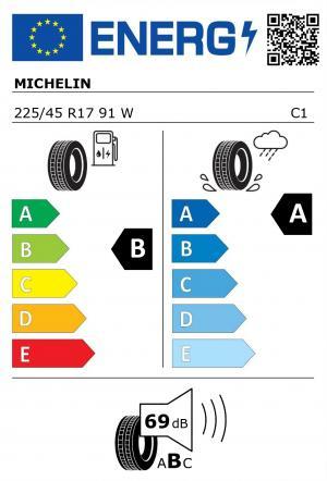 Spotřeba paliva - Přilnavost na mokrém povrchu - Hluk: B - A - 69 db (B)>