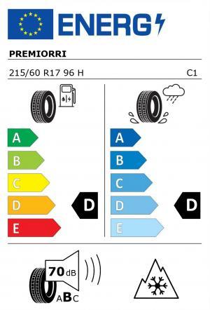 Spotřeba paliva - Přilnavost na mokrém povrchu - Hluk: D - C - 71 db (B)>