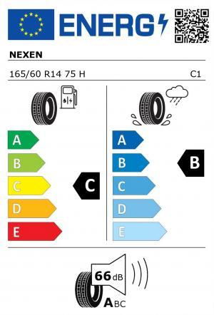 Spotřeba paliva - Přilnavost na mokrém povrchu - Hluk: C - B - 66 db (A)>