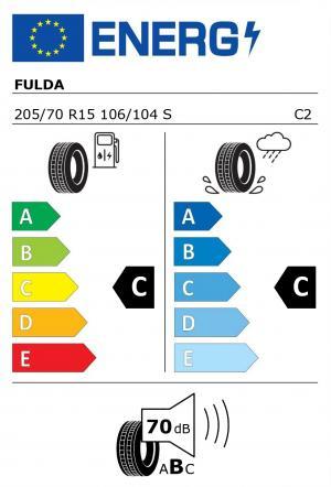 Spotřeba paliva - Přilnavost na mokrém povrchu - Hluk: C - C - 70 db (B)>