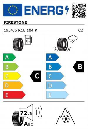 Spotřeba paliva - Přilnavost na mokrém povrchu - Hluk: C - B - 73 db (B)>
