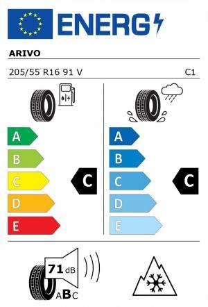 Spotřeba paliva - Přilnavost na mokrém povrchu - Hluk - 3PMSF: C - C - 71 db (B) - ANO>