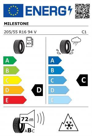 Spotřeba paliva - Přilnavost na mokrém povrchu - Hluk - 3PMSF: D - C - 72 db (B) - ANO>