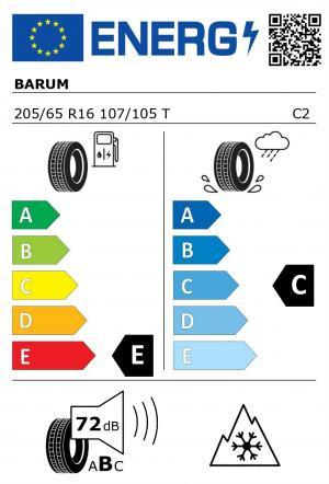 Spotřeba paliva - Přilnavost na mokrém povrchu - Hluk - 3PMSF: E - C - 72 db (B) - ANO>