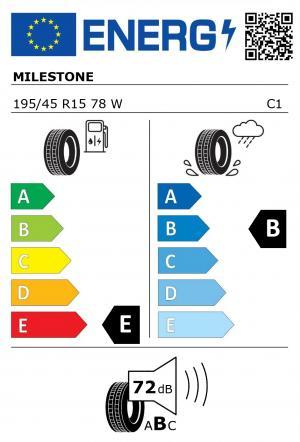 Spotřeba paliva - Přilnavost na mokrém povrchu - Hluk: E - B - 72 db (B)>