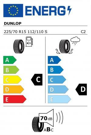 Spotřeba paliva - Přilnavost na mokrém povrchu - Hluk: C - D - 70 db (B)>